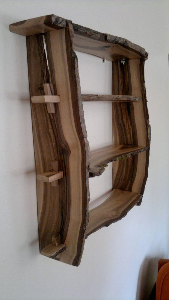 מדפים עץ מלא
